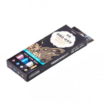 雄獅 單頭金屬色奇異筆 4色組 / 盒 MM-681B/4