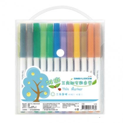 雄獅 三角細支彩色筆24色組 / 盒 NO.3024