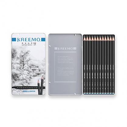雄獅 KREEMO 素描鉛筆(鐵盒) 12色組 / 盒 KMPC-9561/12