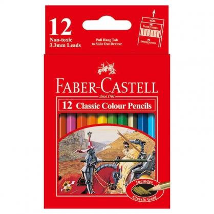 FABER-CASTELL 輝柏 12色油性色鉛筆(短型) /紙盒 115851