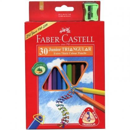 FABER-CASTELL 輝柏大三角油性色鉛筆30色/紙盒 16-116538-30