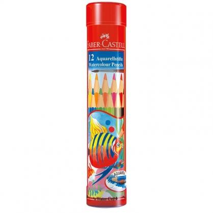 FABER-CASTELL 輝柏 12色水彩色鉛筆/棒棒筒 115912