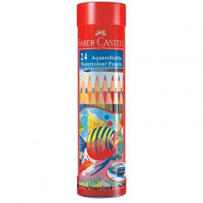 FABER-CASTELL 輝柏 24色水彩色鉛筆/棒棒筒 115924