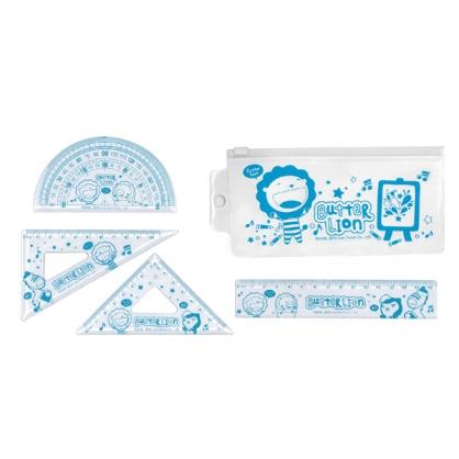 雄獅 奶油獅學生套尺(藍/粉) / 組 RK-006/RK-007