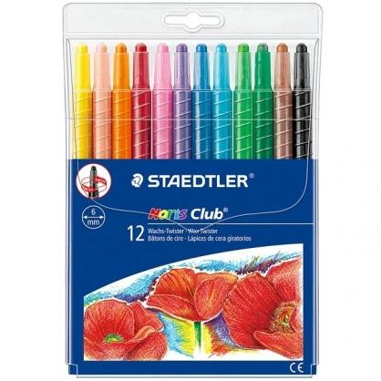 德國 STAEDTER 施德樓 快樂學園 旋轉蠟筆 12色/組 MS221 NWP12