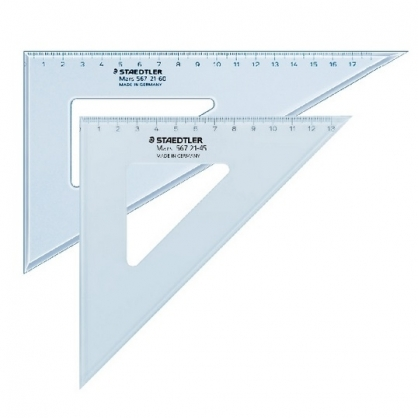 德國 STAEDTER 施德樓 21cm精準 三角板 /組 MS567 21