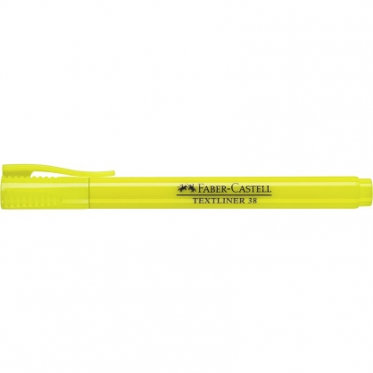 FABER-CASTELL 輝柏 超感度螢光筆-黃色 10入/盒 157707