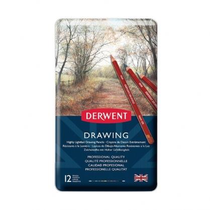 英國 DERWENT DRAWING 炭精筆 大地色系 12色/鐵盒裝 DW0700671