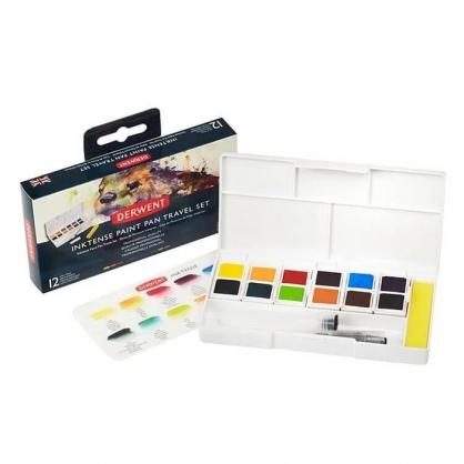 英國 DERWENT INKTENSE 水墨色塊 12色/旅行盒 #01 DW2302636