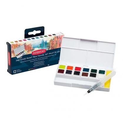 英國 DERWENT INKTENSE 水墨色塊 12色/旅行盒 #02 DW2305544
