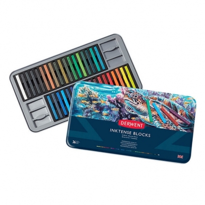 英國 DERWENT INKTENSE 水墨彩條 36色/鐵盒裝 DW2301979