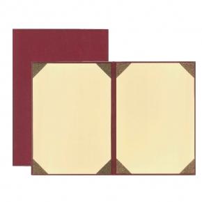 WU 菱格紋 空白 無字 A4 畢業 證書  棗紅 聘書夾 獎狀夾  30本 /箱  5GR-817R