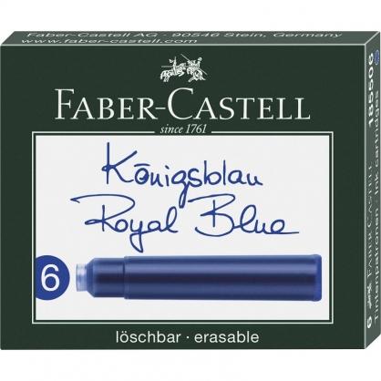 FABER-CASTELL 輝柏 卡式墨水6支入-藍色/ 盒 185506