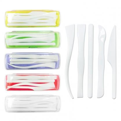 W.I.P 黏土工具組 顏色隨機出貨 5支入 /盒 LPB275