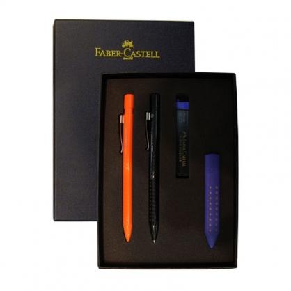FABER-CASTELL 輝柏 好點子握得住對筆組-藍色/ 組 E0001-3