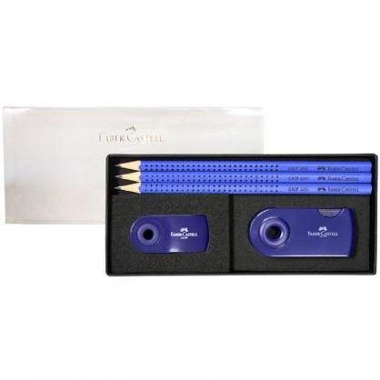 FABER-CASTELL 輝柏 2001握得住鉛筆禮盒組-藍/組 E0006-1