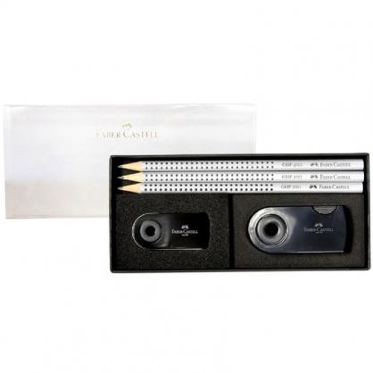 FABER-CASTELL 輝柏 2001握得住鉛筆禮盒組-銀灰/組 E0006-2