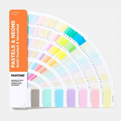 PANTONE 色票 粉彩色 & 霓虹色指南 | 光面銅版紙 & 膠版紙 (Pastels & Neons Guide | Coated & Uncoated)  / 本【2019 最新版】 GG1504A