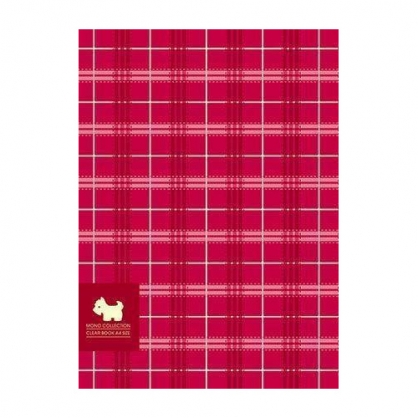 美加美 MONO布格紋20入資料簿-紅 / 本 AM2288