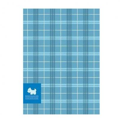 美加美 MONO布格紋20入資料簿-藍 / 本 AM2289
