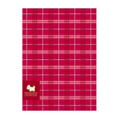 美加美 MONO布格紋30入資料簿-紅 / 本 AM2291