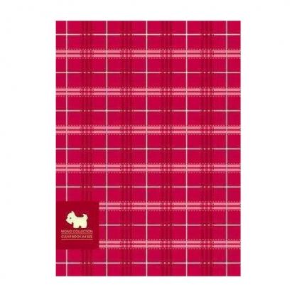 美加美 MONO布格紋40入資料簿-紅 / 本 AM2294