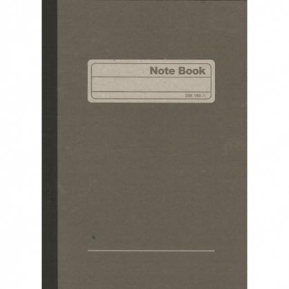 加新 25K灰皮 平裝筆記 (入數100)  10本/包 80225100