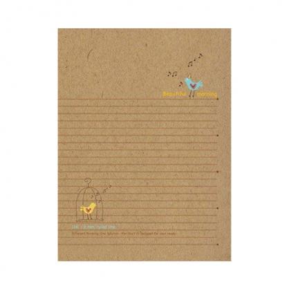 美加美 牛皮筆記25K橫線加厚-小鳥 5本 / 包 AO1013