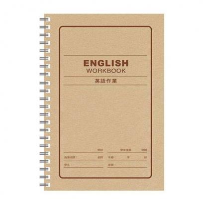 美加美 25K膠圈英語作業簿 5本 / 包 AE1104