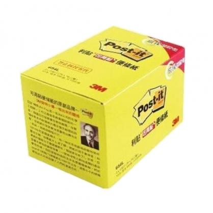 3M 利貼 可再貼便條紙 環保經濟包 黃色 75x75mm 12本 /盒 654L