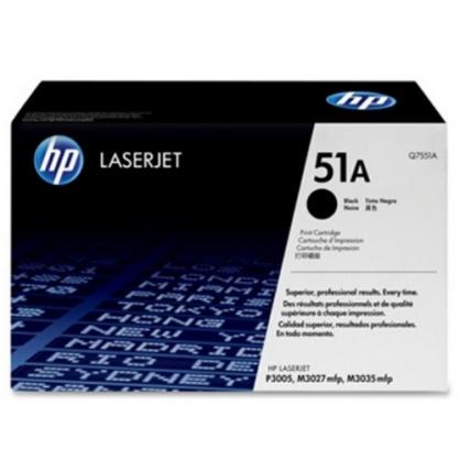 HP 黑色 原廠碳粉匣 / 個 Q7551A 51A