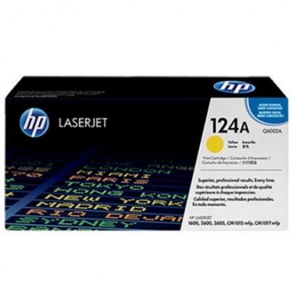 HP 黃色 原廠碳粉匣 / 個 Q6002A 124A