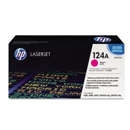 HP 紅色 原廠碳粉匣 / 個 Q6003A 124A