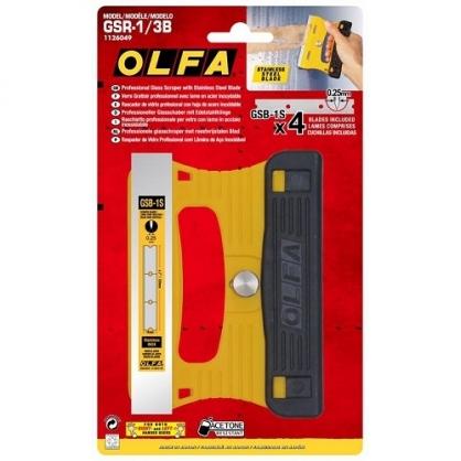 日本 OLFA 專業玻璃用刮刀 /支 (日本包裝型號228B型) GSR-1/3B