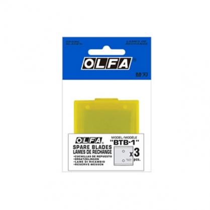 日本 OLFA 皮革刀替刃 3片/包 BTB-1