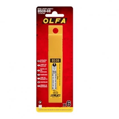 日本 OLFA 刮刀替刃 6片/包 BS08-6B