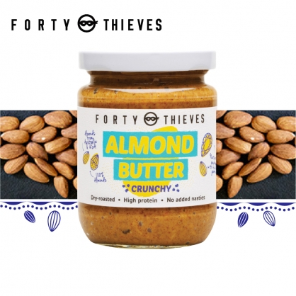【壽滿趣-Forty Thieves】紐西蘭頂級顆粒杏仁醬(235g)