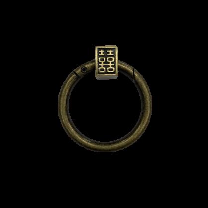 囍門環創意磁貼+鑰匙環
