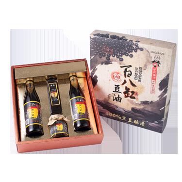 2瓶滷香四溢+1缸底蔭油+1瓶烏豆鼓 共四瓶裝精選伴手禮盒