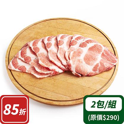 沙朗梅花烤肉片x2(台灣加賀豬)
