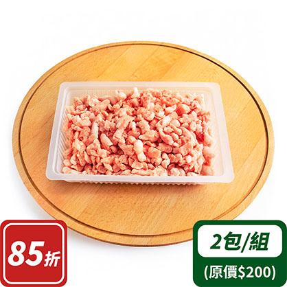 豬絞肉(2:8)x2(台灣加賀豬)