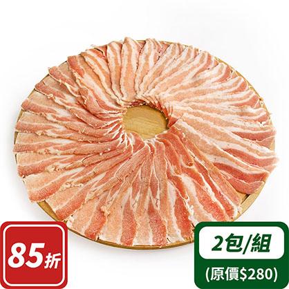 豬培根火鍋片(去皮五花)x2 (台灣加賀豬)
