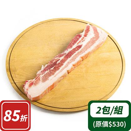 帶皮五花肉條x2(台灣加賀豬)