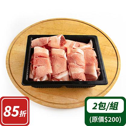 前腿梅花火鍋片x2(台灣加賀豬)