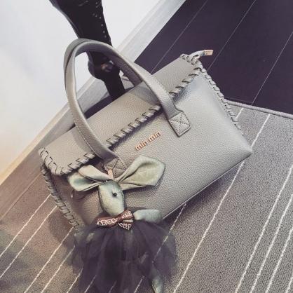 韓版時尚花邊手提包