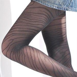 AMISS透膚感造型絲襪-狂野虎紋