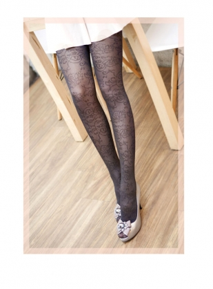 AMISS透膚感造型絲襪-花形藤蔓
