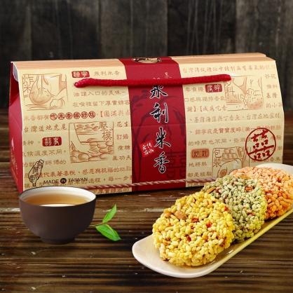 【泉利米香】手繪米香餅提盒6入(3盒)(免運)