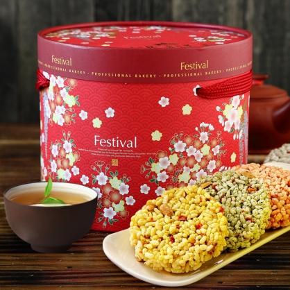 【泉利米香】豐收禮盒米香餅8入(2盒)(免運)