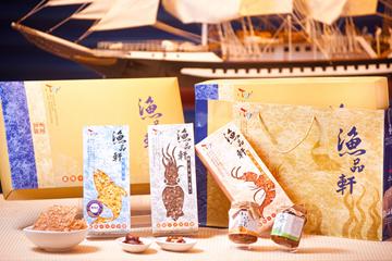 鮮饌經典禮盒組(休閒食品+海味醬2瓶-飛魚卵、櫻花蝦)